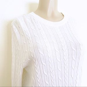 a new day Sweaters - 🌪A New Day White Cable Knit Pull Over Sweater, XL
